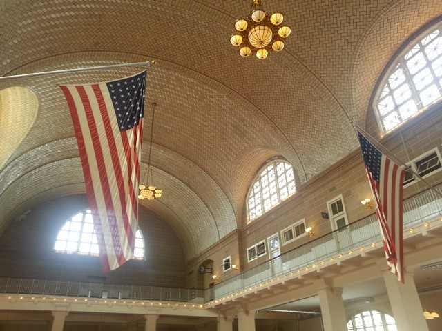 Tiled ceiling in the Great Hall, Ellis Island