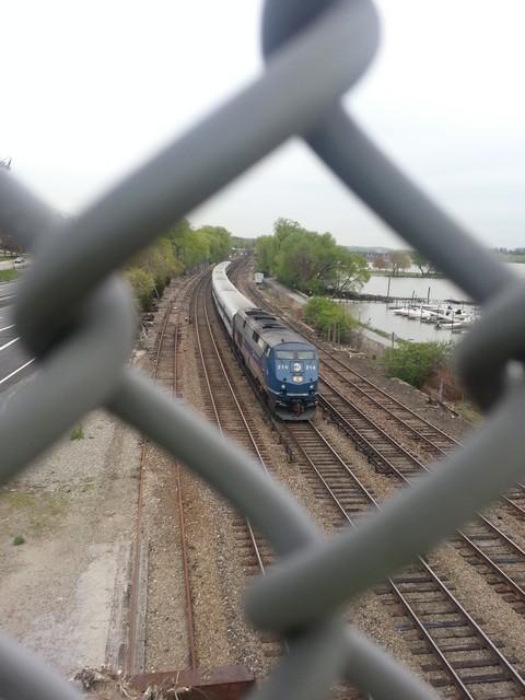 Pedestrian bridge - train