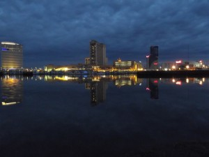 View of Atlantic City from Kammerman's Marina just before dawn 5/3/14