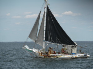 Working fishing boat, Delaware Bay