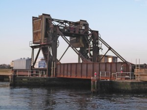 Closed train drawbridge, Manasquan NJ 5/4/14