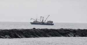 Fishing boat just outside of Atlantic City, NJ 5/3/14