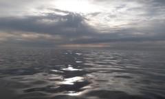 An ocean that looked like glass outside of Atlantic City NJ, near 7am 5/3/14