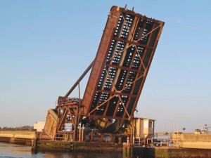 Open train drawbridge, Manasquan NJ 5/4/14