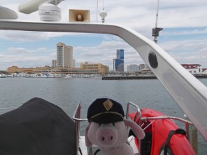 Wee Kilted Pig upon arrival in Atlantic City, NJ
